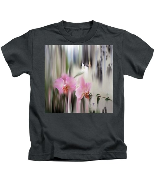 Orchids With Dragonflies Kids T-Shirt