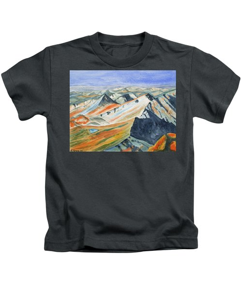 Original Watercolor - High Alpine View Kids T-Shirt