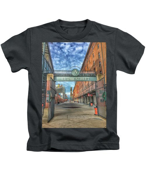 Oriole Park At Camden Yards - Eutaw Street Gate Kids T-Shirt
