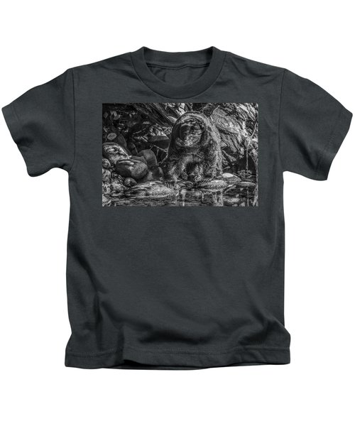 Oservant Black Bear  Kids T-Shirt