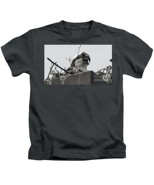 Osprey In Nest Kids T-Shirt