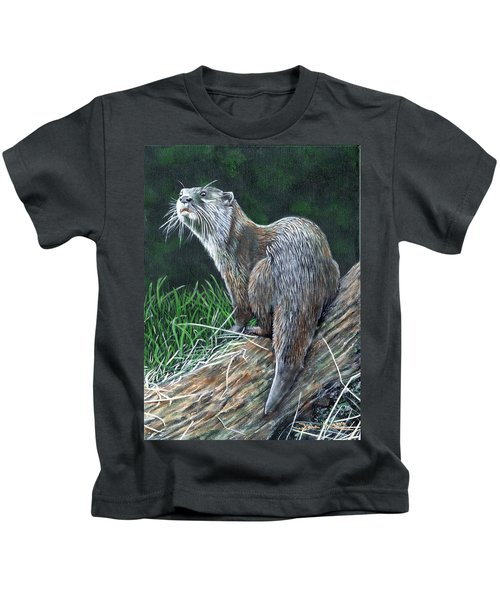 Otter On Branch Kids T-Shirt
