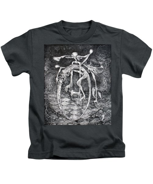 Ouroboros Perpetual Motion Machine Kids T-Shirt