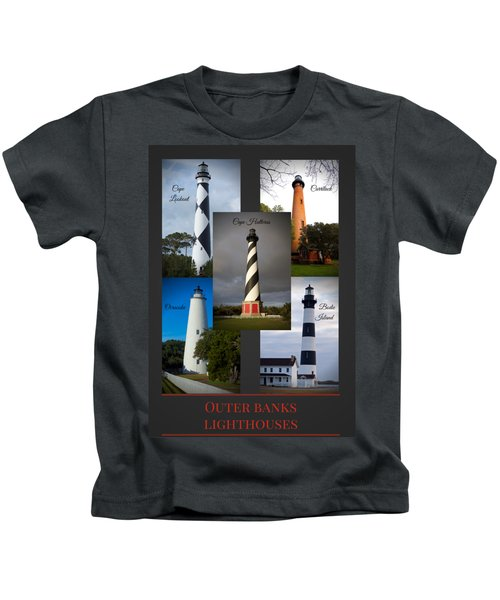Outer Banks Lighthouses Kids T-Shirt