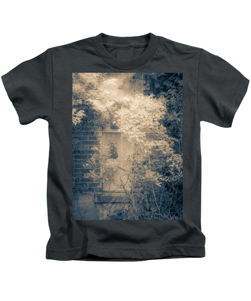 Overgrowth On Abandoned Pumping Station Kids T-Shirt