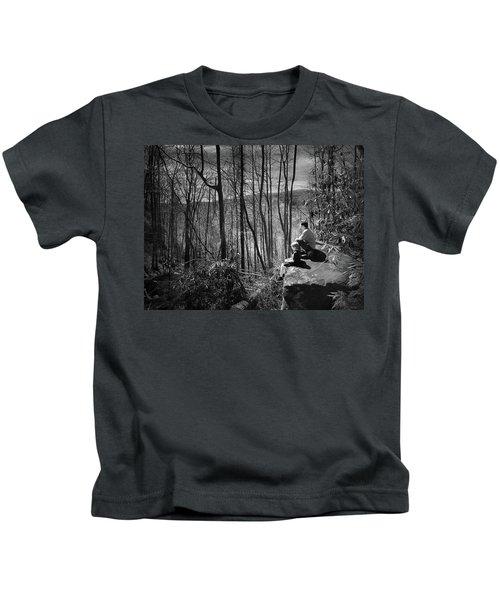 Overlook By Rainbow Falls Kids T-Shirt