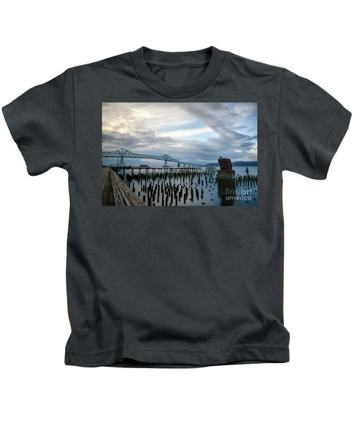 Overlooking The Bridge Kids T-Shirt