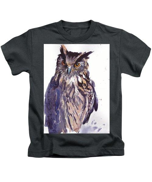 Owl Watercolor Kids T-Shirt