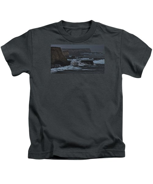 Pacific Cliffs Of Davenport Kids T-Shirt