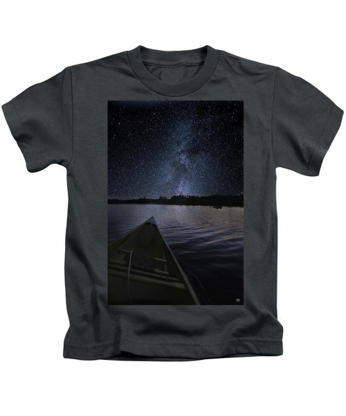 Paddling The Milky Way Kids T-Shirt