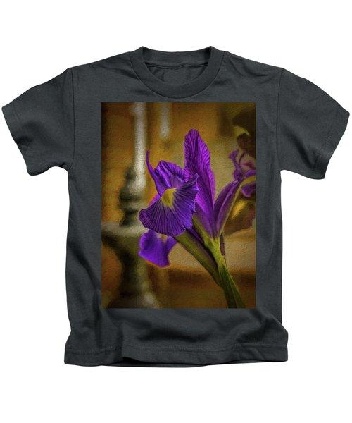 Painted Iris Kids T-Shirt