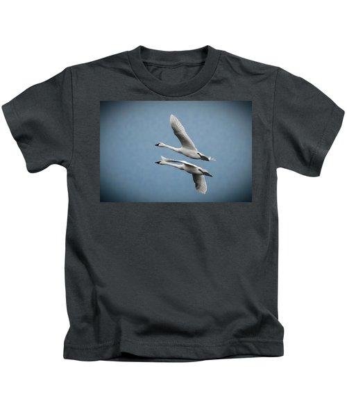 Pair Of Tundra Swan Kids T-Shirt