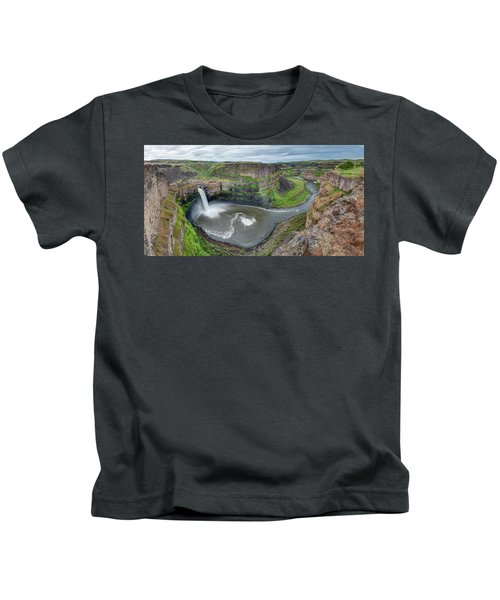 Palouse Falls In The Spring Kids T-Shirt