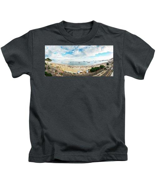 Panorama Of Copacabana, Rio De Janeiro, Brazil  Kids T-Shirt