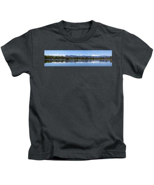 Panorama Of Front Range Kids T-Shirt
