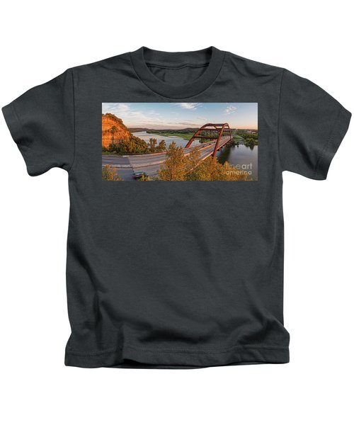 Panorama Of Lake Austin And Texas Hill Country From Highway 360 Overlook - Austin Texas Kids T-Shirt