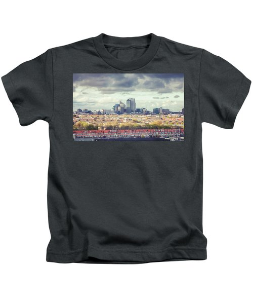 panorama of the Hague modern city Kids T-Shirt