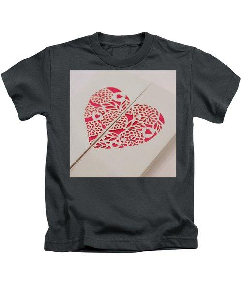 Paper Cut Heart Kids T-Shirt