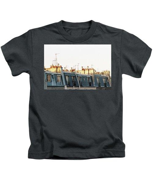 Paris Rooftops Kids T-Shirt