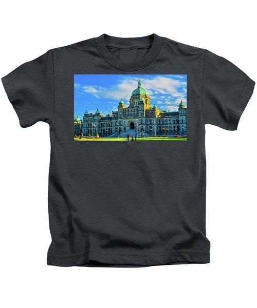 Parliament Victoria Bc Kids T-Shirt