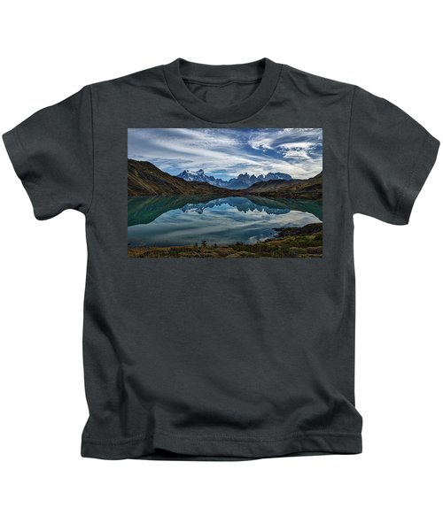 Patagonia Lake Reflection - Chile Kids T-Shirt