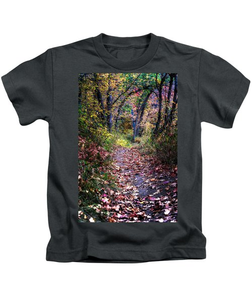 Path Of Leaves Kids T-Shirt