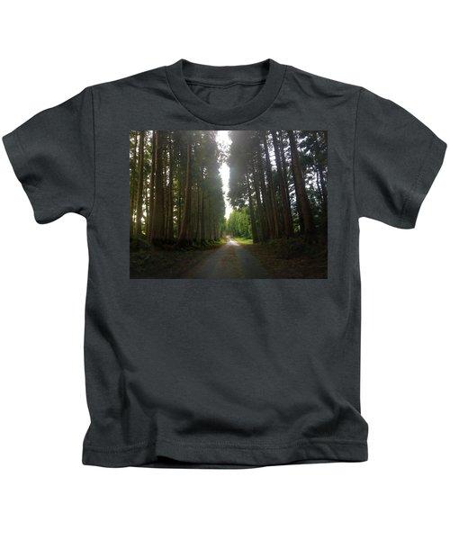 Path Through The Woods Kids T-Shirt