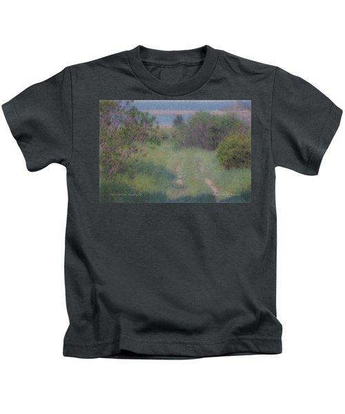 Path To The Sea - Duxbury Ma Kids T-Shirt