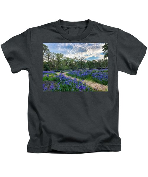 Pathway Through The Flowers Kids T-Shirt