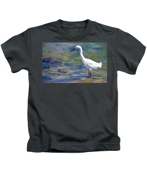 Patient Egret Kids T-Shirt