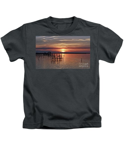 Peace Be With You Sunset Kids T-Shirt
