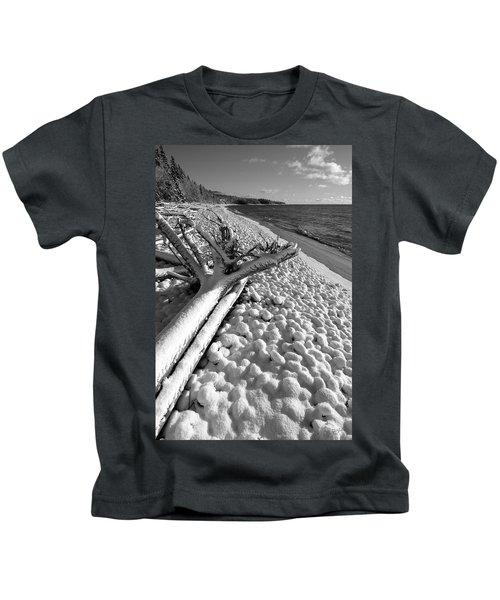 Pebble Beach Winter Kids T-Shirt