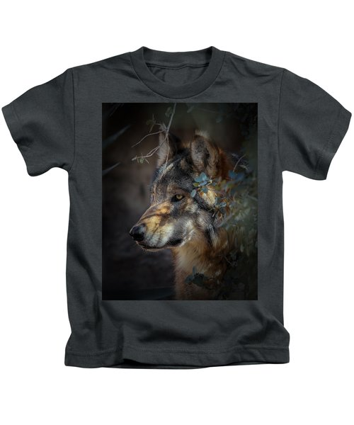 Peeking Out From The Shadows Kids T-Shirt