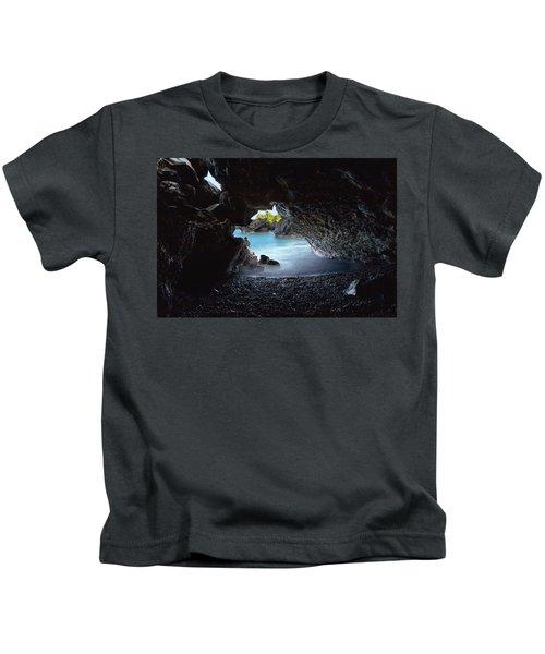 Peeking Through The Lava Tube Kids T-Shirt