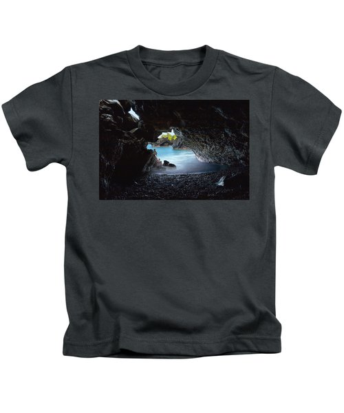 Peeking Through The Lava Tube Kids T-Shirt