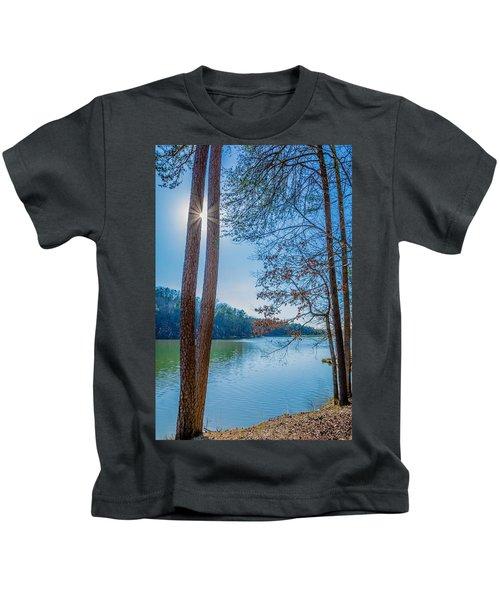 Peeping Sun Kids T-Shirt