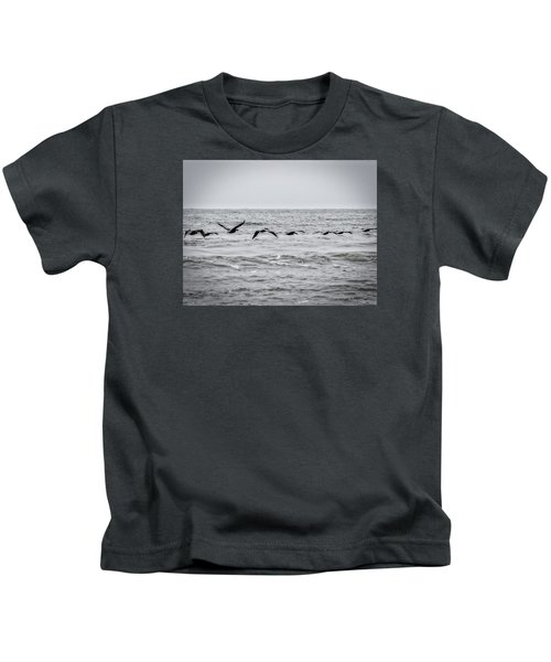 Pelican Black And White Kids T-Shirt