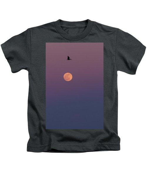 Pelican Over The Moon Kids T-Shirt