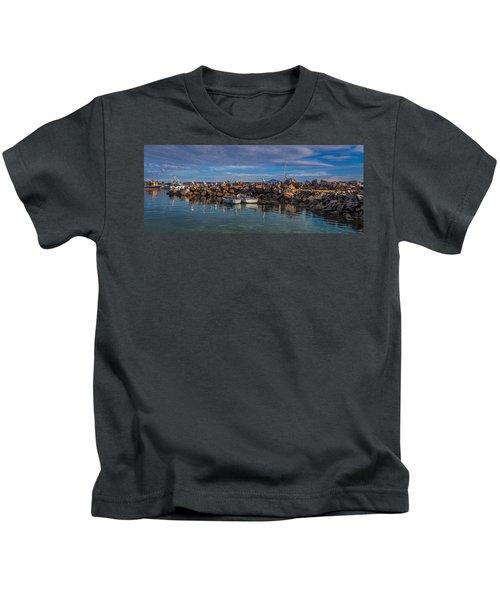 Pelicans At Eden Wharf Kids T-Shirt