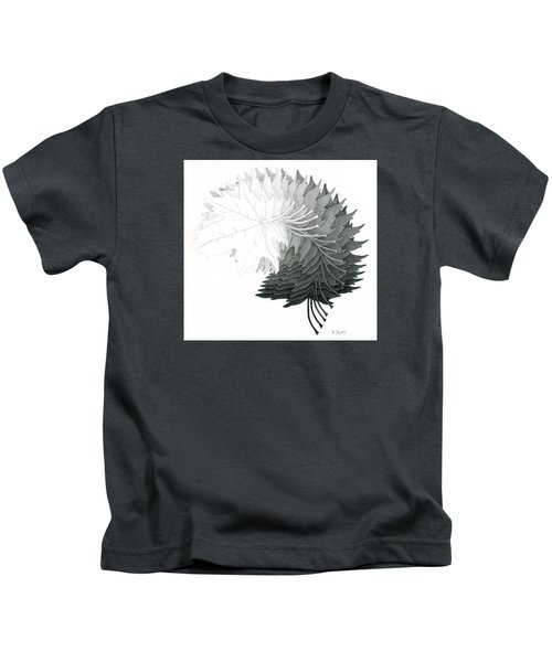 Pencil Drawing Of Maple Leaves Kids T-Shirt