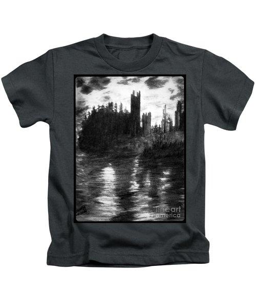 Pencil Sketch The Dolceaoque Castle Kids T-Shirt