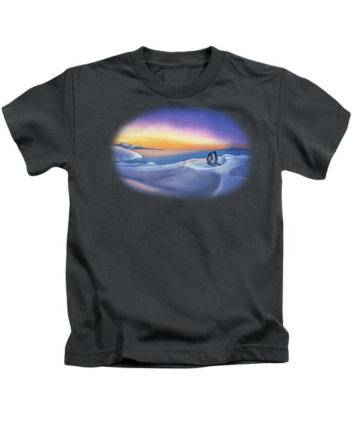 Penguins At Daybreak Kids T-Shirt