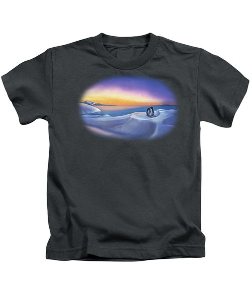 Penguins At Daybreak Kids T-Shirt