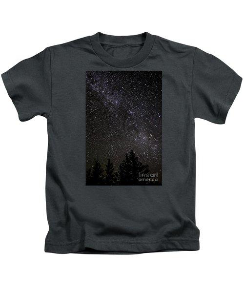 Perseid Meteor And Milky Way Kids T-Shirt