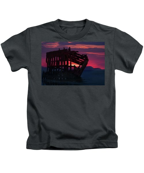 Peter Iredale Shipwreck Kids T-Shirt