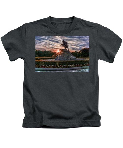 Peter Rides At Dawn Kids T-Shirt