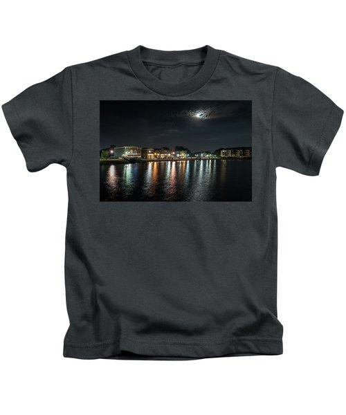 Pewaukee At Night Kids T-Shirt