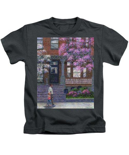 Philadelphia Street In Spring Kids T-Shirt