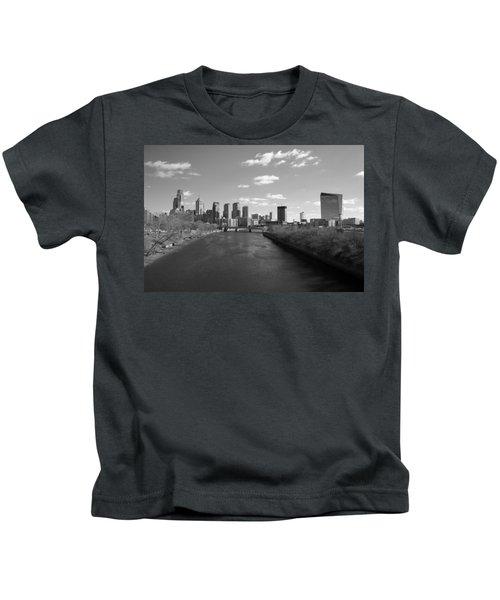 Philly B/w Kids T-Shirt