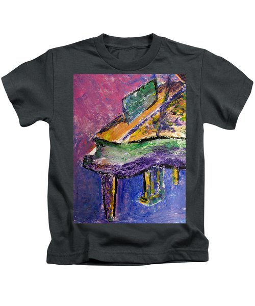 Piano Purple - Cropped Kids T-Shirt